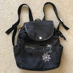 Black Coach Backpack!
